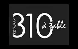 310 à table